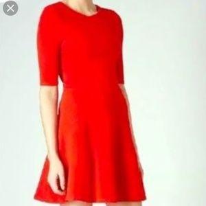 Topshop Skater Dress in Red